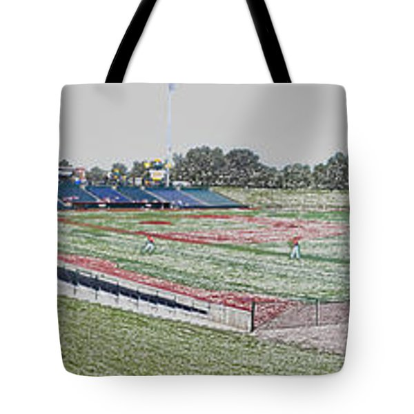 Going To The Baseball Game Digital Art Tote Bag by Thomas Woolworth