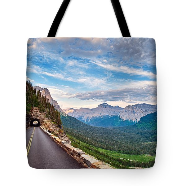 Going To The Sun Tote Bag by Renee Sullivan