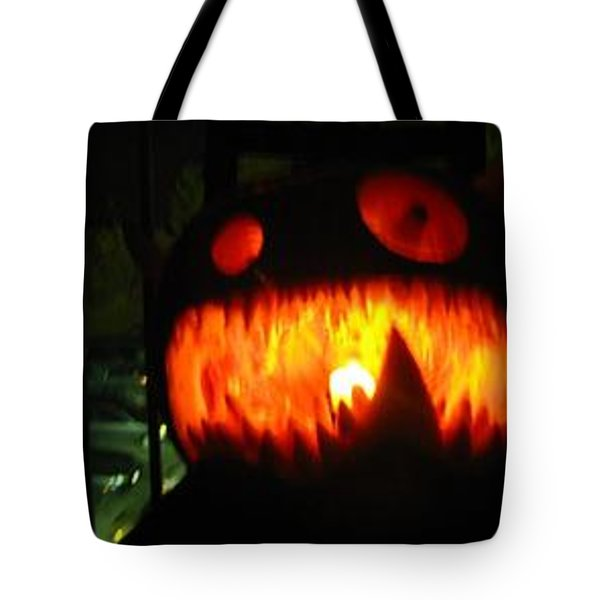 Going Up Pumpkin Tote Bag by Shawn Dall