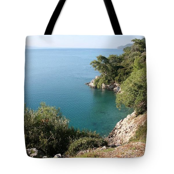 Tote Bag featuring the photograph Gokova Korfezi Akyaka by Tracey Harrington-Simpson