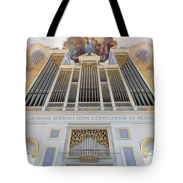 Gold And Blue Pipes Tote Bag