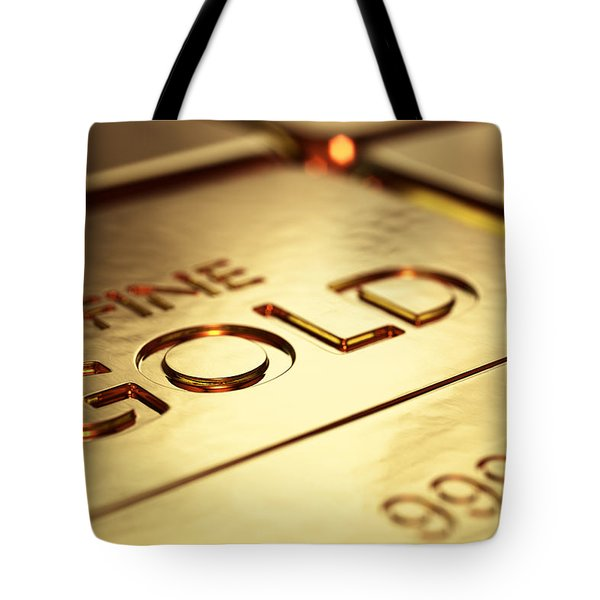 Gold Bars Close-up Tote Bag