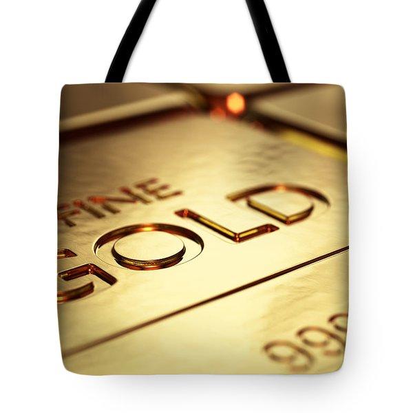 Gold Bars Close-up Tote Bag