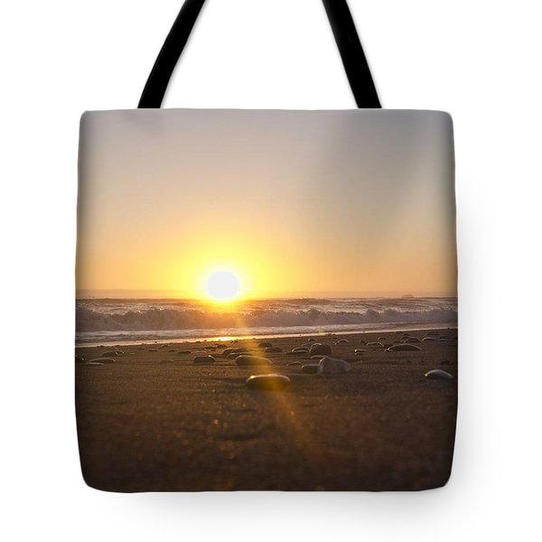 Tote Bag featuring the photograph Gold Beach Sunset by Daniel Sheldon