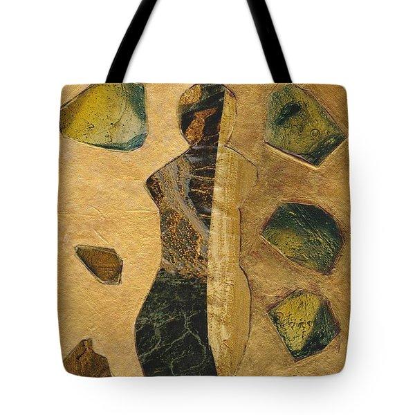 Gold Black Female Tote Bag