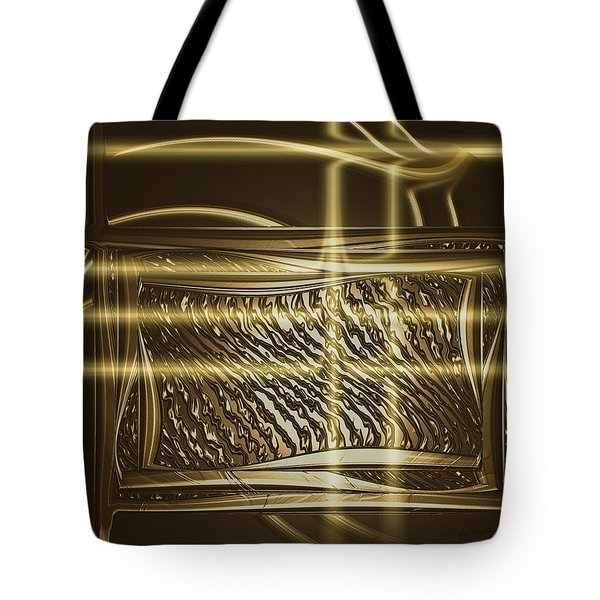 Gold Chrome Abstract Tote Bag