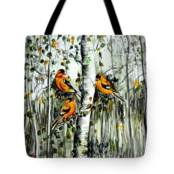 Gold Finches Tote Bag