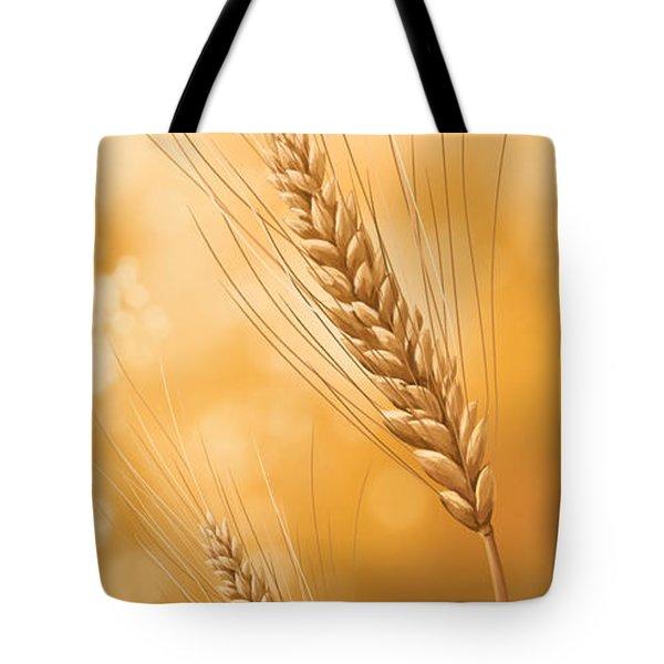 Gold Grain Tote Bag