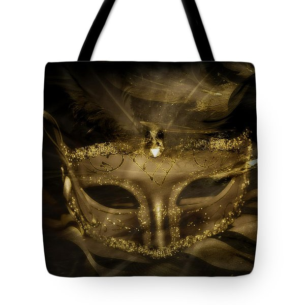 Tote Bag featuring the photograph Gold In The Mask by Amanda Eberly-Kudamik