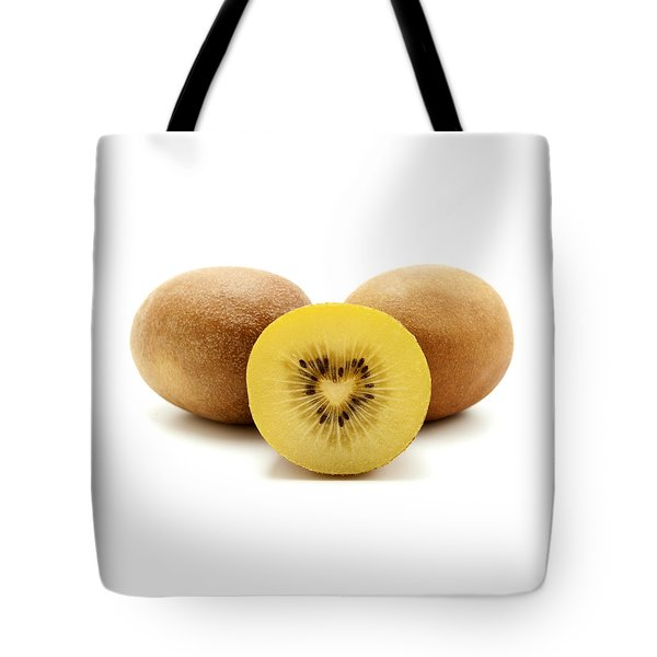 Tote Bag featuring the photograph Gold Kiwifruit by Fabrizio Troiani
