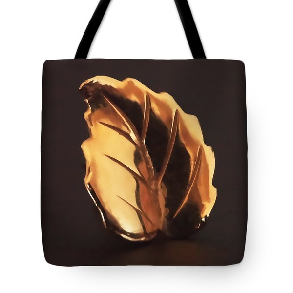 Tote Bag featuring the photograph Gold Leaf by Rona Black