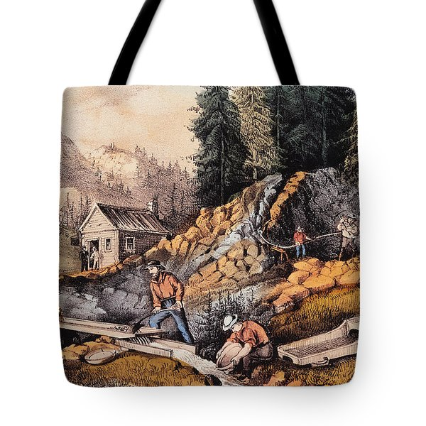 Gold Mining In California Tote Bag
