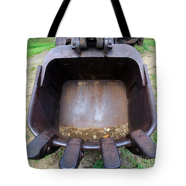 Gold Mining Steam Shovel Bucket Close-up Tote Bag