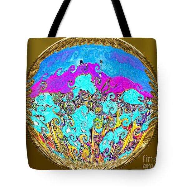 Gold Tote Bag by Oksana Semenchenko