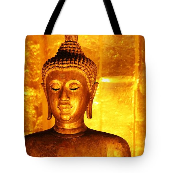 Tote Bag featuring the photograph Gold On Gold by Nola Lee Kelsey