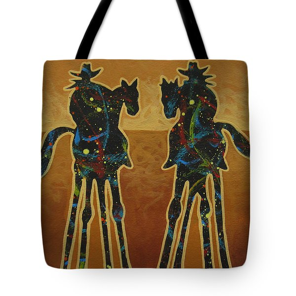 Gold Riders Tote Bag by Lance Headlee