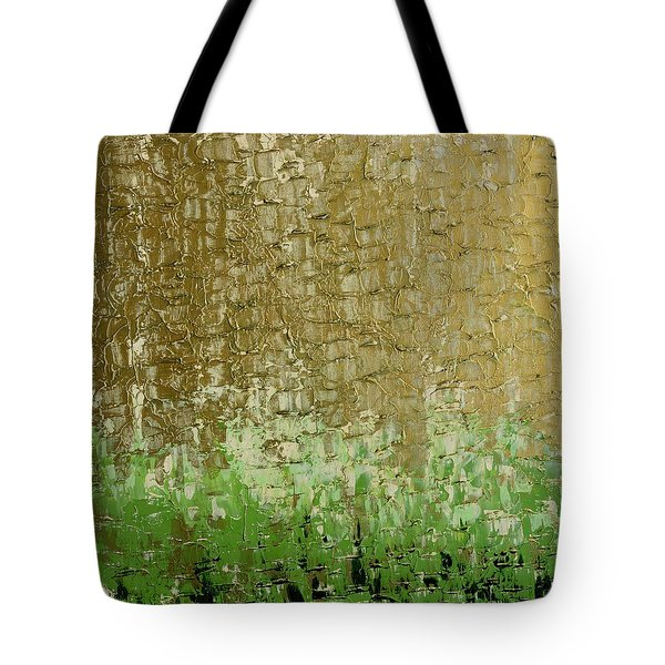 Gold Sky Green Grass Tote Bag
