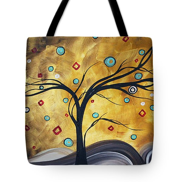 Golden Admiration By Madart Tote Bag by Megan Duncanson