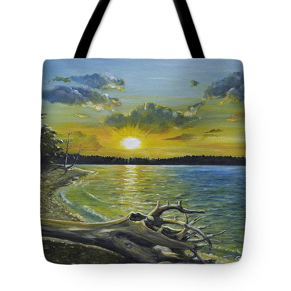 Golden Afternoon At Ketron Island Tote Bag