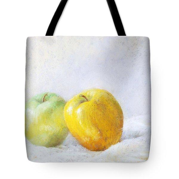 Golden Apple Tote Bag by Nancy Stutes