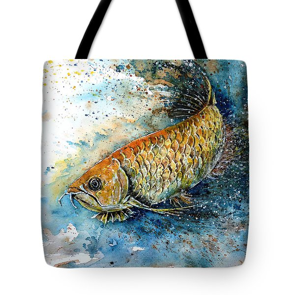 Golden Arowana Tote Bag