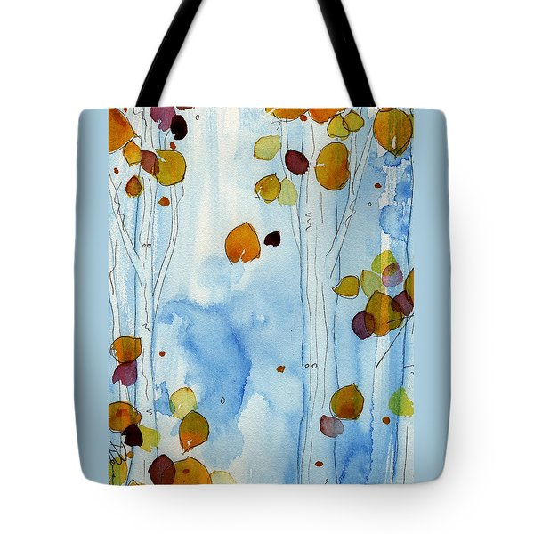 Golden Aspens Tote Bag by Dawn Derman