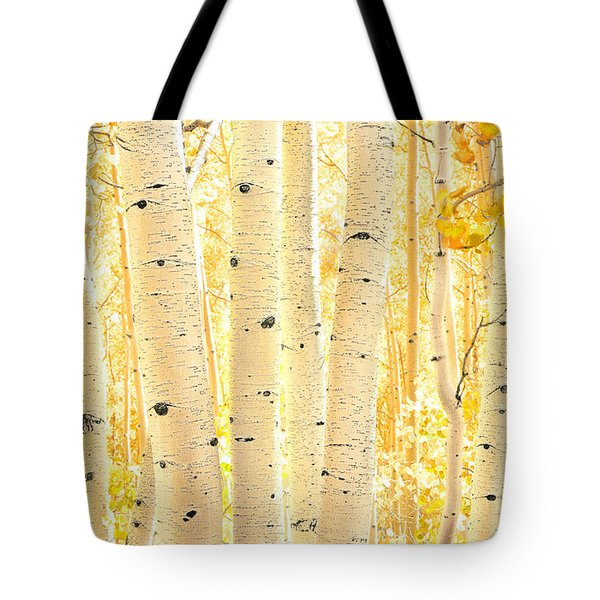 Golden Aspens Utah Tote Bag