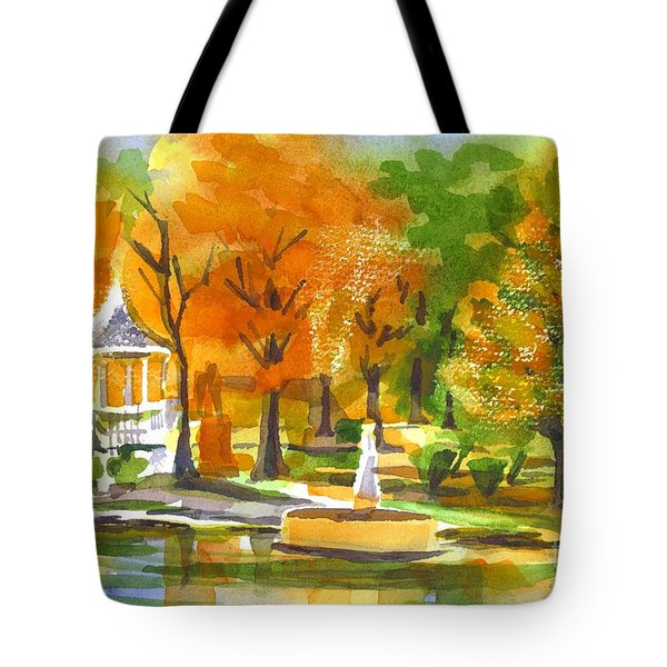 Golden Autumn Day Tote Bag by Kip DeVore