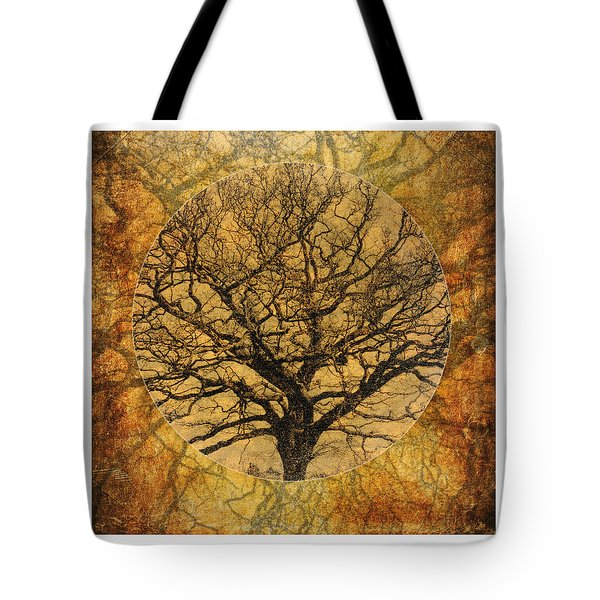 Golden Autumnal Trees Tote Bag