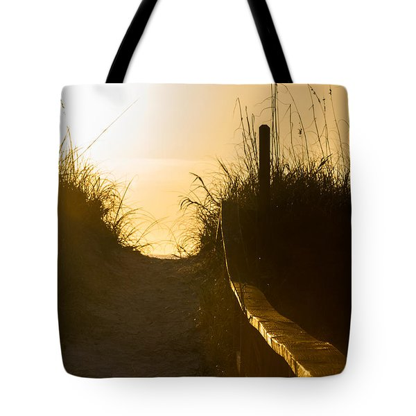 Golden Beach Access Tote Bag