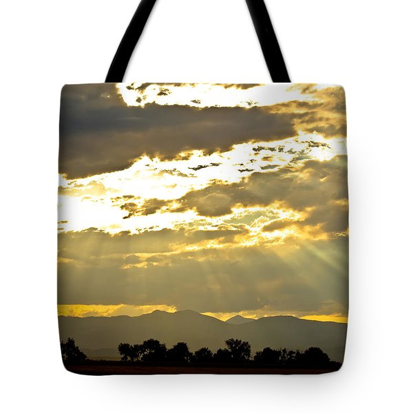 Golden Beams Of Sunlight Shining Down Tote Bag by James BO  Insogna