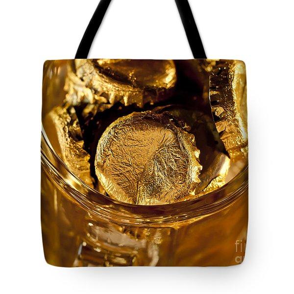 Golden Beer  Mug  Tote Bag by Wilma  Birdwell