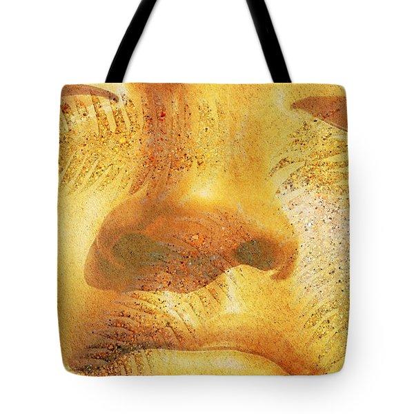 Golden Buddha - Art By Sharon Cummings Tote Bag by Sharon Cummings