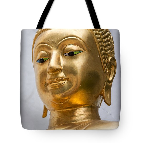 Golden Buddha Statue Tote Bag by Antony McAulay
