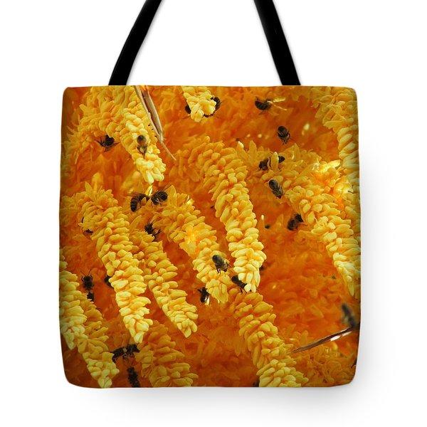 Golden  Buzz Tote Bag by Linda Hollis