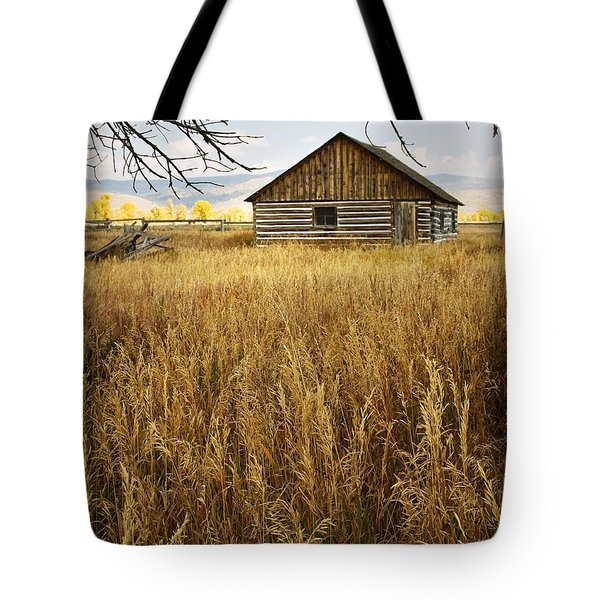 Tote Bag featuring the photograph Golden Cabin by Sonya Lang