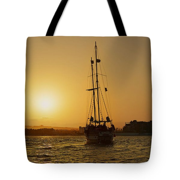 Tote Bag featuring the photograph Golden Cabo Sunset by Christine Till