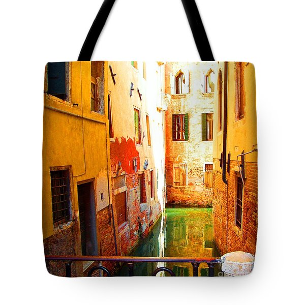 Golden Canal Tote Bag