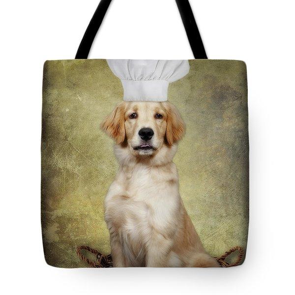 Golden Chef Tote Bag by Susan Candelario