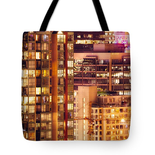 Tote Bag featuring the photograph City Of Vancouver - Golden City Of Lights Cdlxxxvii by Amyn Nasser
