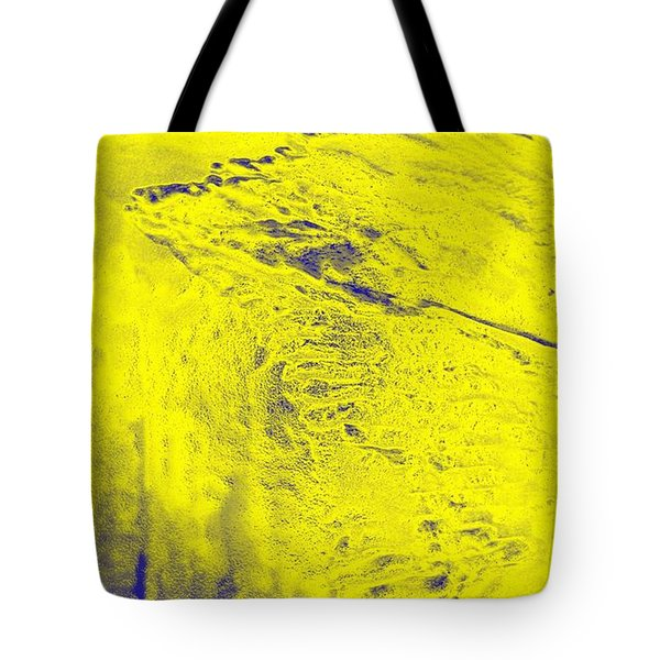 Golden Clouds One Snowy Hill Tote Bag by Feile Case