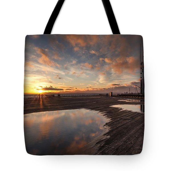 Golden Clouds Pools Tote Bag