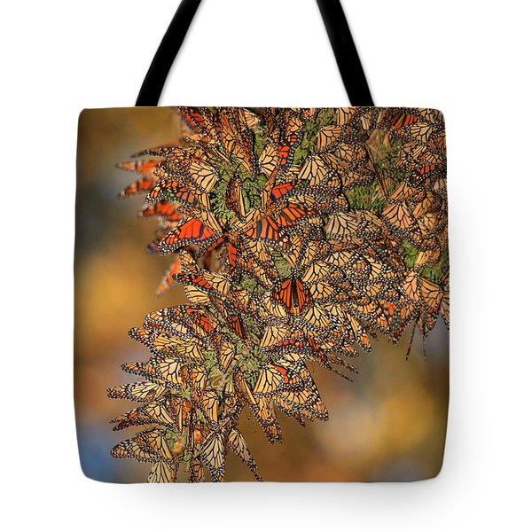 Golden Cluster Tote Bag