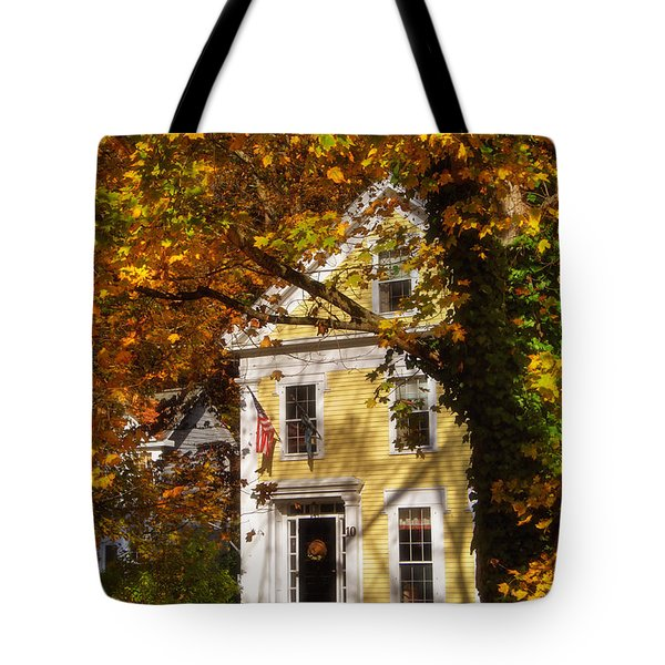 Golden Colonial Tote Bag