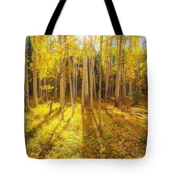 Golden Tote Bag by Darren  White