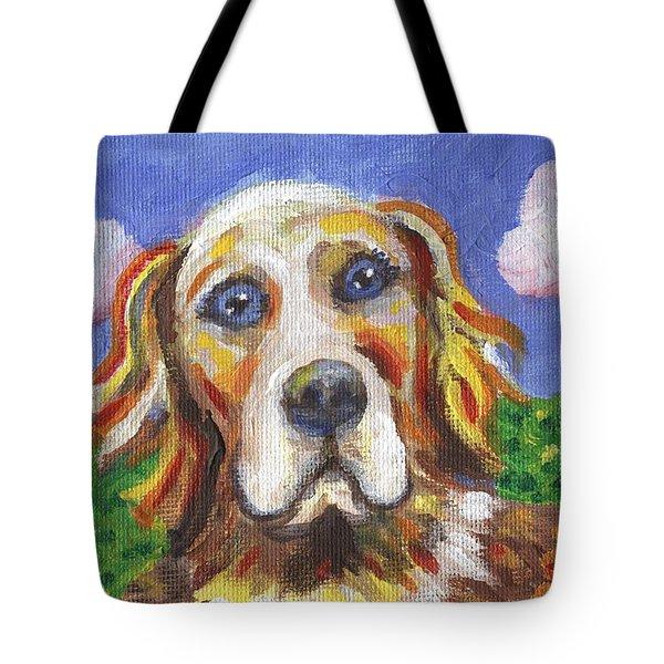 Golden Dog Tote Bag by Linda Mears