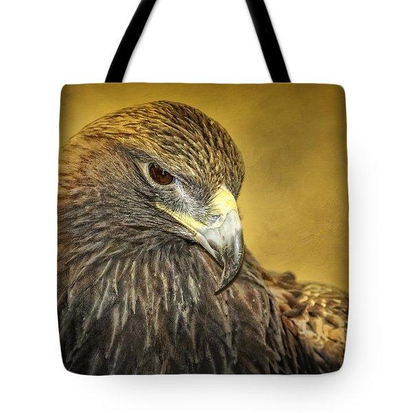 Golden Eagle Portrait Tote Bag