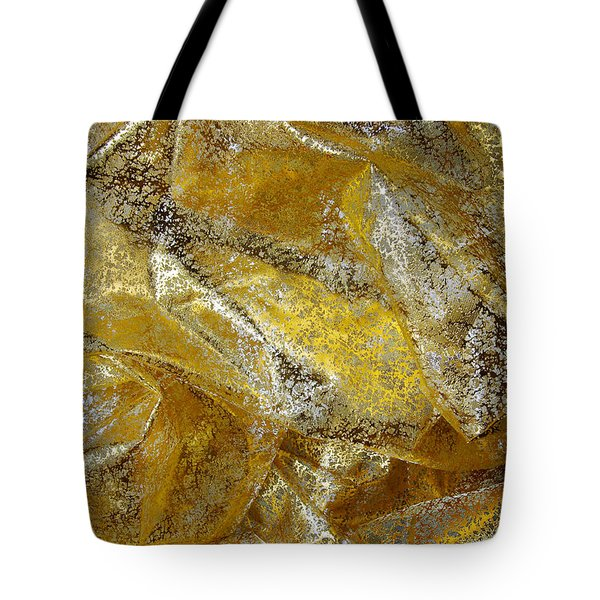 Golden Fabric Tote Bag by Carlos Caetano
