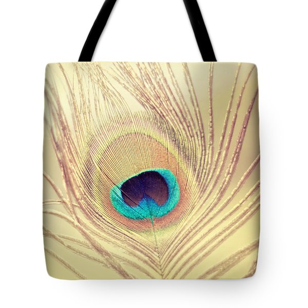 Golden Feather Tote Bag by Amy Tyler