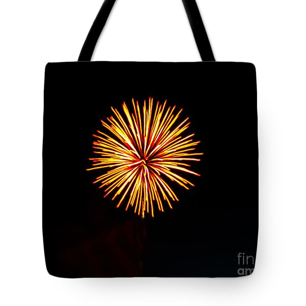 Golden Fireworks Flower Tote Bag by Robert Bales